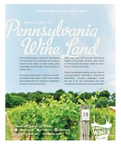 Pennsylvania Wines Fact Sheet